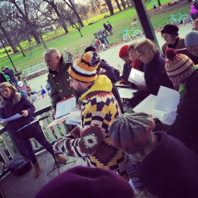 Winter performance in Ruskin Park